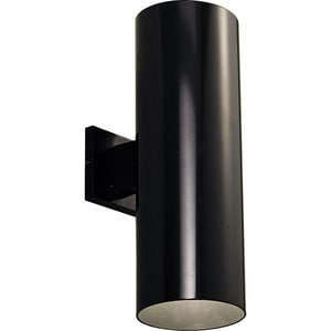 Progress Lighting Cylinder 18 in. 250W 2-Light Wall Lantern in Black PP564231