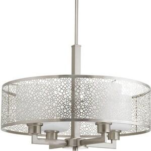 Progress Lighting Mingle 100W 1-Light Medium Pendant in Brushed Nickel PP515609