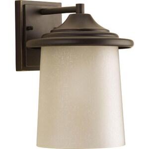 Progress Lighting Essential 11-1/8 in. 100W 1-Light Outdoor Wall Lantern in Antique Bronze PP606020