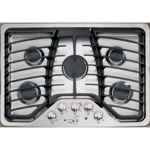 General Electric Appliances Profile™ 30 x 20-7/8 in. 5-Burner Natural Gas Cooktop in Stainless Steel GPGP953SETSS