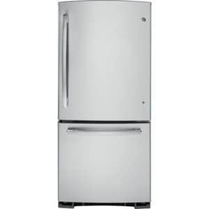 General Electric Appliances 29-3/4 in. 20.3 cf Freestanding Bottom Mount Refrigerator with Ice Maker in Stainless Steel GGDE20GSHSS