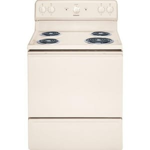 General Electric Appliances 46-3/4 x 30 in. 5 cf 10.1kW Electric Freestanding Range in Bisque GRB525DHCC
