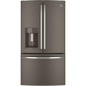 General Electric Appliances 14.9 cf Counter Depth French Door Refrigerator in Slate GGYE22KMHES
