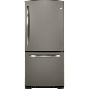 General Electric Appliances 29-3/4 in. 20.3 cf Freestanding Bottom Mount Refrigerator Right Hand in Slate GGDE20GMHES