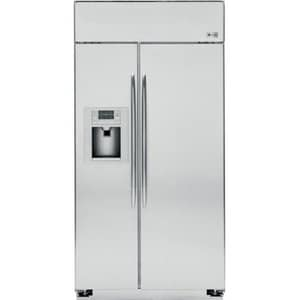 General Electric Appliances Profile™ 42 in. 24.4 cf Built-In Side-By-Side Refrigerator in Stainless Steel GPSB42YSHSS