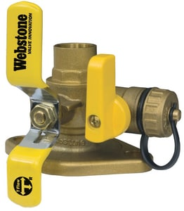 Webstone Company Isolator® 1 in. Sweat Brass Full Port Ball Valve with Lever Handle and Multifunction Drain WH51414W