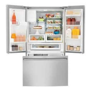 Electrolux Home Products 35-5/8 in. 15.7 cf Freestanding French Door Refrigerator with 3-Glide in Stainless Steel EE23BC78IPS