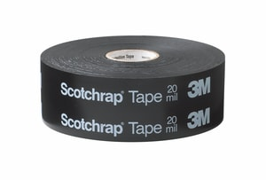 3M 6 in. x 100 ft. #50 PVC and Vinyl Unprinted Tape in Black 3M05400715785