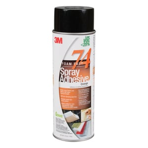 3M 24 oz. Low Volatile Organic Compound 74 Spray Adhesive in Orange 3M05111197958