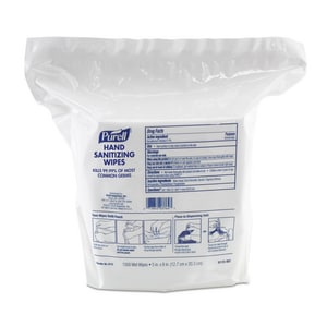 PURELL Purell® Hand Sanitizing Wipes 1500-Count (Case of 2) for Gojo Purell 9023-06 Wipes Dispenser G911502