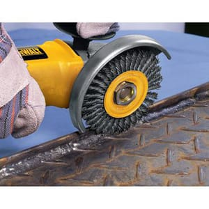 DEWALT 4 in. 5/8-11 in. Carbon Steel String Beaded Wire Wheel DDW4925 at Pollardwater