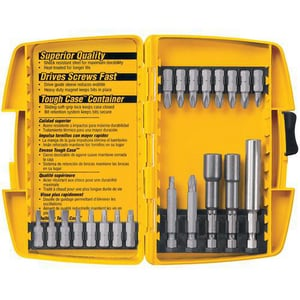 DEWALT High Carbon Steel Screwdriver Set 21-Piece DDW2161