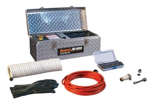 General Pipe Cleaners Mini-Jet™ 1-1/5 hp Drain Cleaning Machine with Hose and Nozzle GJM1000A