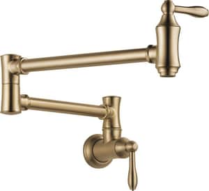 Delta Faucet Two Handle Lever Handle Pot Filler in Champagne Bronze D1177LFCZ