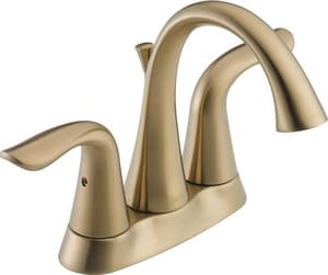 Delta Faucet Lahara® Two Handle Centerset Bathroom Sink Faucet in Brilliance Champagne Bronze D2538CZMPUDST