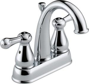 Delta Faucet Leland® Two Handle Bathroom Sink Faucet in Polished Chrome D2575LFMPU