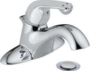 Delta Faucet Classic Series Single Handle Centerset Bathroom Sink Faucet in Polished Chrome D520LFHDF