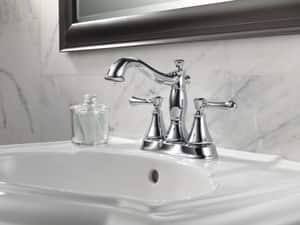 Delta Faucet Cassidy™ Two Handle Centerset Bathroom Sink Faucet in Brilliance Champagne Bronze D2597LFCZMPU