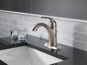 Delta Faucet Lahara® Single Handle Centerset Bathroom Sink Faucet in Champagne Bronze D538CZMPUDST