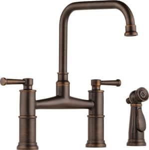 Brizo Artesso™ Two Handle Bridge Kitchen Faucet in Venetian Bronze D62525LFRB