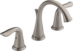 Delta Faucet Lahara® Two Handle Widespread Bathroom Sink Faucet in Stainless D3538SSMPUDST