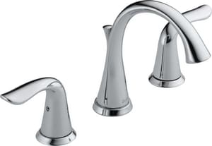 Delta Faucet Lahara Two Handle Widespread Bathroom Sink Faucet in Polished Chrome D3538MPUDST