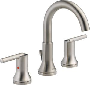 Delta Faucet Trinsic® Widespread Lavatory Faucet with Double Lever Handle D3559MPUDST