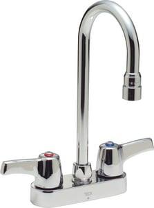 Delta Faucet Teck® Double Lever Handle Cast Deckmount Lavatory Faucet in Polished Chrome D27C4843
