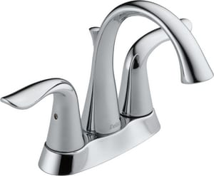 Delta Faucet Lahara® Two Handle Centerset Bathroom Sink Faucet in Polished Chrome D2538MPUDST