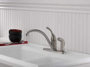 Delta Faucet Collins™ Single Handle Kitchen Faucet in Stainless D340SSDST