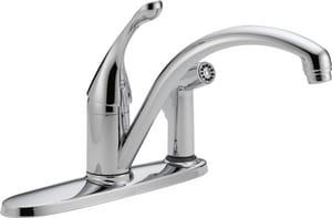 Delta Faucet Collins™ Single Handle Kitchen Faucet in Chrome D340DST