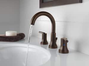 Delta Faucet Trinsic® Two Handle Widespread Bathroom Sink Faucet in Venetian Bronze D3559RBMPUDST