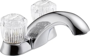 Delta Faucet Classic Series Two Handle Centerset Bathroom Sink Faucet in Polished Chrome D2502LF