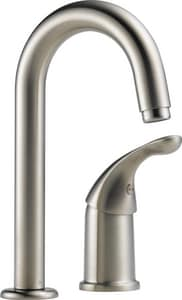 Delta Faucet Classic Single Handle Lever Handle Bar Faucet in Stainless D1903DST