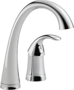 Delta Faucet Trinsic® 2-Hole Prep or Bar Faucet with Single Lever Handle in Polished Chrome D1980DST