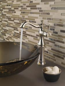 Delta Faucet Cassidy™ Single Handle Vessel Filler Bathroom Sink Faucet in Polished Nickel D797LFPN
