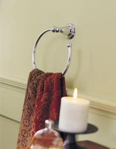 Delta Faucet Victorian® Round Open Towel Ring in Brilliance Polished Brass D75046PB