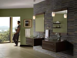 Delta Faucet Vero Single Handle Vessel Filler Bathroom Sink Faucet in Brilliance Champagne Bronze D753LFCZ