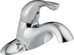 Delta Faucet Classic Series Centerset Lavatory Faucet with Lever Handle in Polished Chrome D500DST