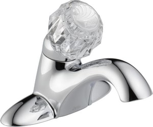 Delta Faucet Classic Series Centerset Lavatory Faucet with Knob Handle in Polished Chrome D502DST