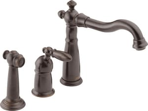 Delta Faucet Victorian® Single Handle Widespread Kitchen Faucet in Venetian Bronze D155RBDST