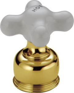 Delta Faucet NeoStyle® Porcelain Small Cross Handle in Polished Brass DH27PB