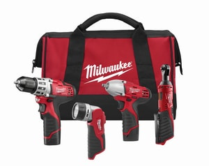 Milwaukee M12™ Cordless 12V 4 Tool Kit M249324