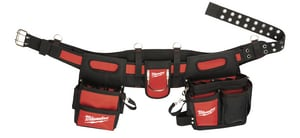 Milwaukee Electrician Work Belt in Black-Red M48228110