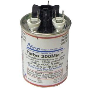 Motors & Armatures Turbo® 200 Mini 12.5 mfd 370/440V Run Capacitor MAR12100