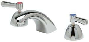 Zurn AquaSpec® 2.2 gpm 3-Hole Deck Mount Widespread Lavatory Faucet with Double Lever Handle and 5/18 in. Reach in Polished Chrome ZZ831R1XLP