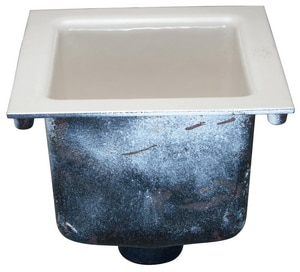 Zurn No-Hub Floor Sink with Anchor Flange in White ZZN19012NH