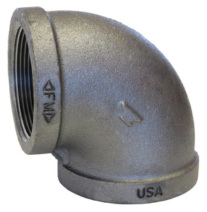 1-1/4 in. Threaded 150# Black Malleable Iron 90 Degree Elbow B9H