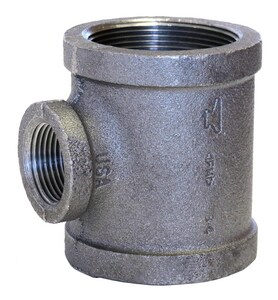 1 x 3/4 x 1 in. Threaded x NPS 150# Galvanized Malleable Iron Reducing Tee GTGFG