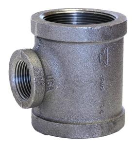 1/2 x 1/2 x 1 in. Threaded x NPS 150# Galvanized Malleable Iron Reducing Tee GTDDG
